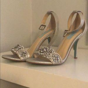 Betsey Johnson silver heels